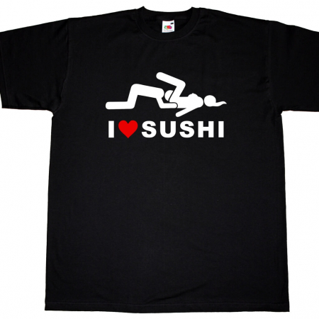 Fun Herren T-Shirt - I Love Sushi
