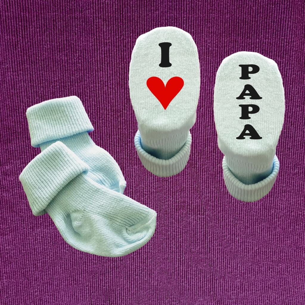 Babysocken Baby Socken I Love Oma Opa Papa Mama Tante Onkel oder MIT Wunschname