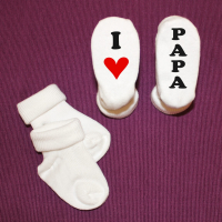 Babysocken I Love  Papa Mama Oma Opa Tante Onkel oder Wunschname