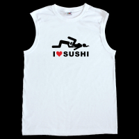 Fun Herren Tank-Top - I Love Sushi